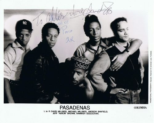 THE PASADENAS Yours Sincerely Press Release And Signed Photo Columbia 1992